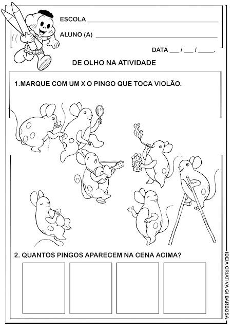 Atividade Obra Mary França- Os Pingos