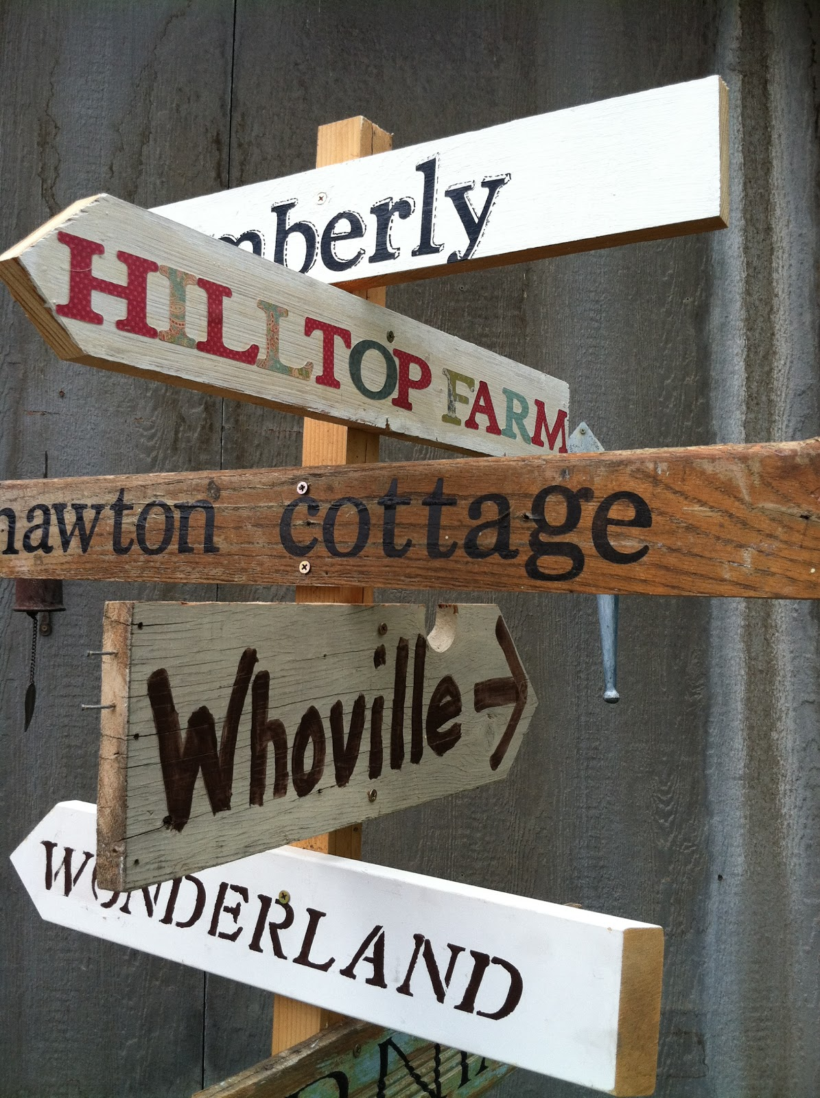 Reclaim-ologists And Other Crafty Chicks  Directional Sign Post For Your Garden Fun