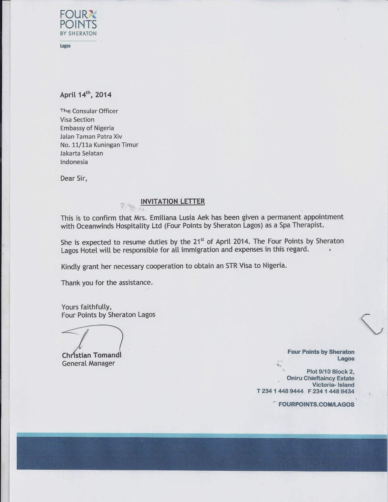 Jangkar Groups: VISA NIGERIA FOR STR (Subject To ...