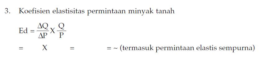 Permintaan Elastis Sempurna 2