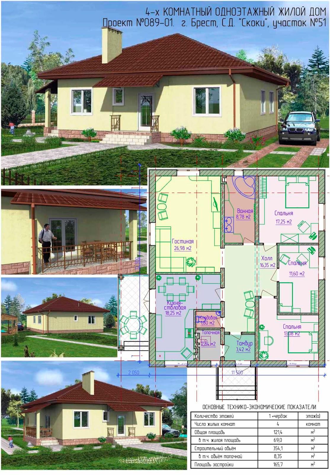 Проект 5-ти комнатного дома | Дизайн и архитектура