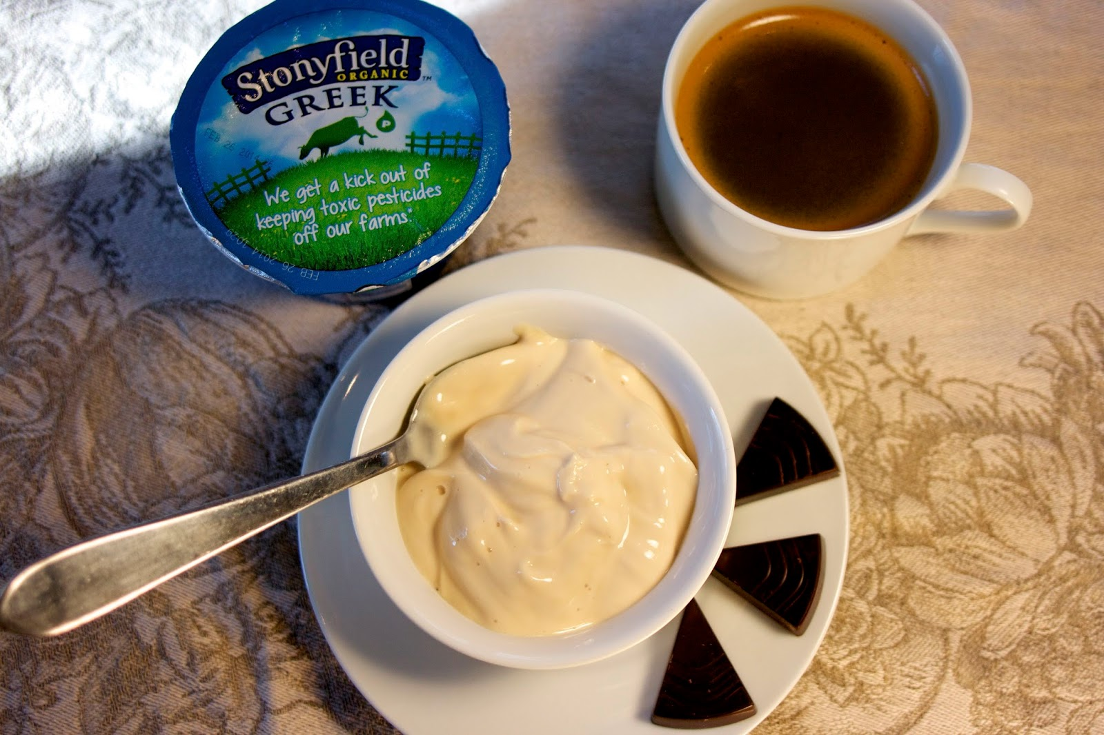 Stonyfield caffe latte greek yogurt: simple living and eating