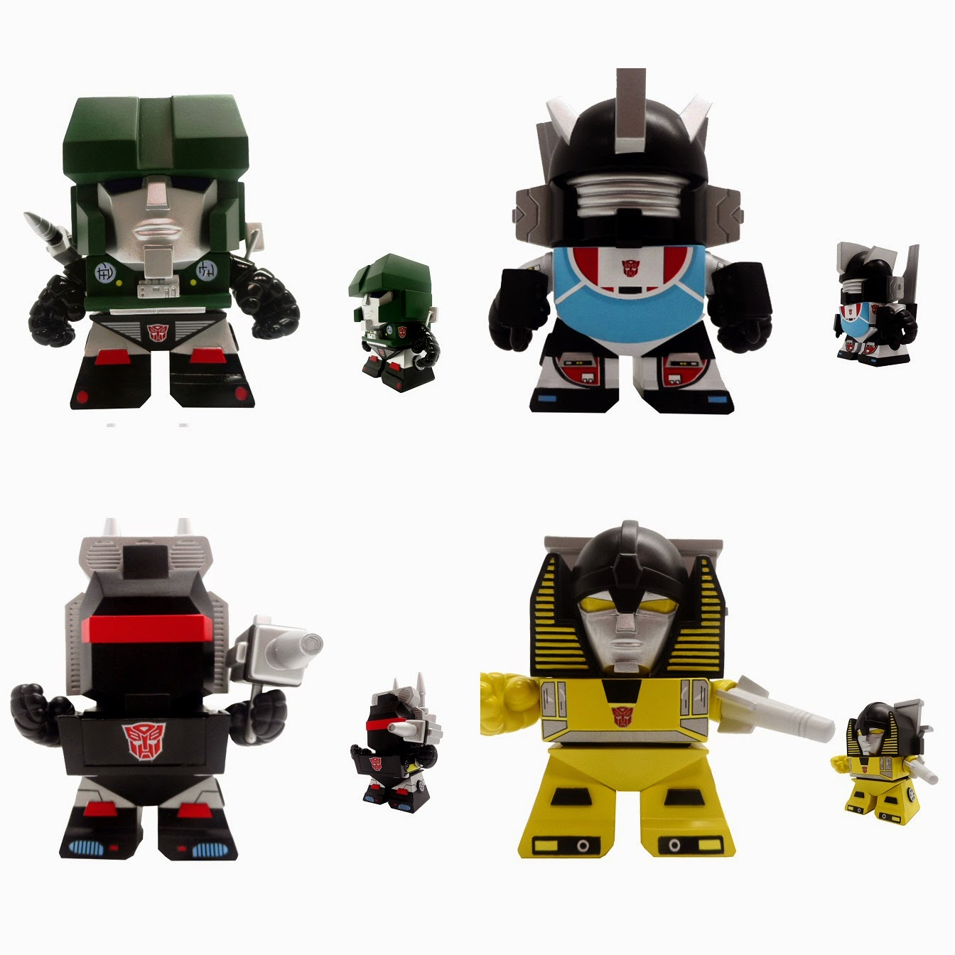 Transformers Mini Figure Series 3 by The Loyal Subjects - Hound, Wheeljack, Trailbreaker & Sunstreaker