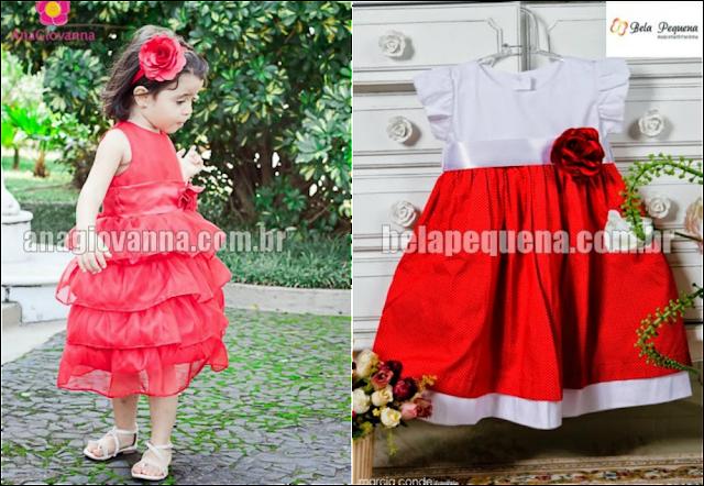 8 Vestidos infatis para o natal