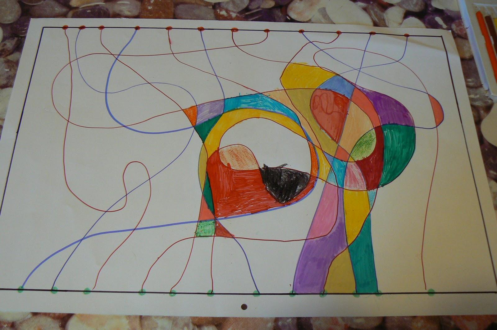 Orca observar recordar crecer y aprender dibujo compartido for Imagenes de cuadros abstractos faciles