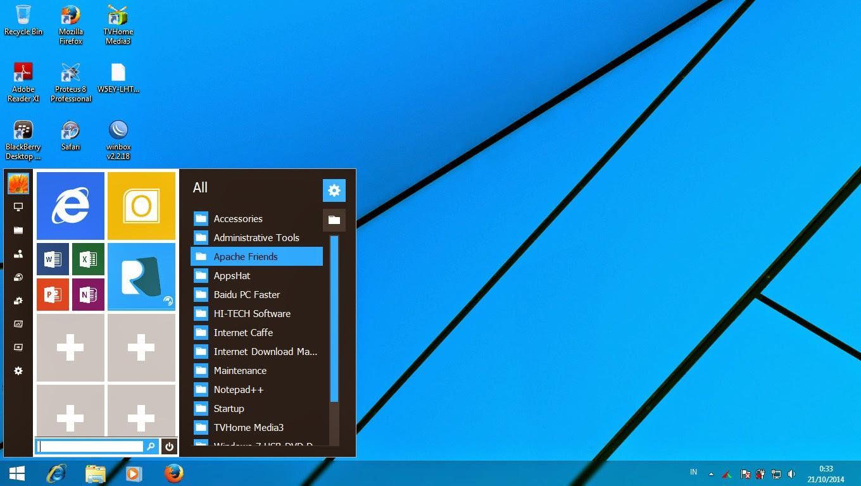 SkinPack Windows10 V1.0 Untuk Windows 7/Vista/Windows 8