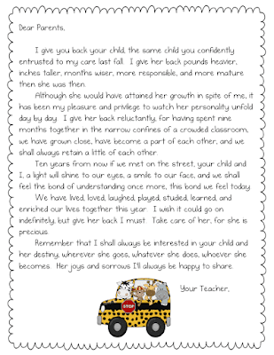 end of the year letter to parents from teach it with class end of the year parent letter 22349