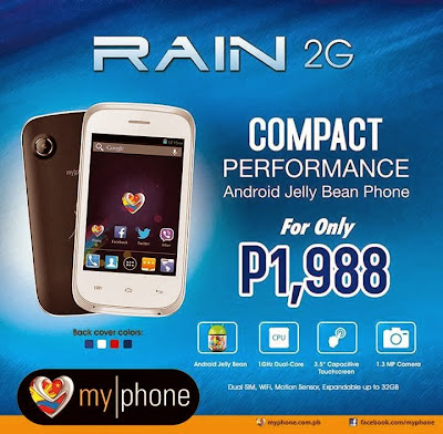 MyPhone Agua RAIN 2G: Specs, Price and Availability in the Philippines