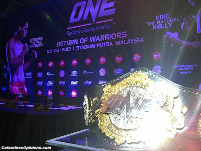One FC MMA Return of Warriors KL Malaysia 2013 featherweight belt