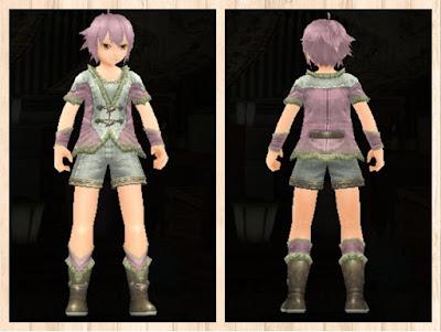 緑竜の衣 ピンク1+白3 軽量化