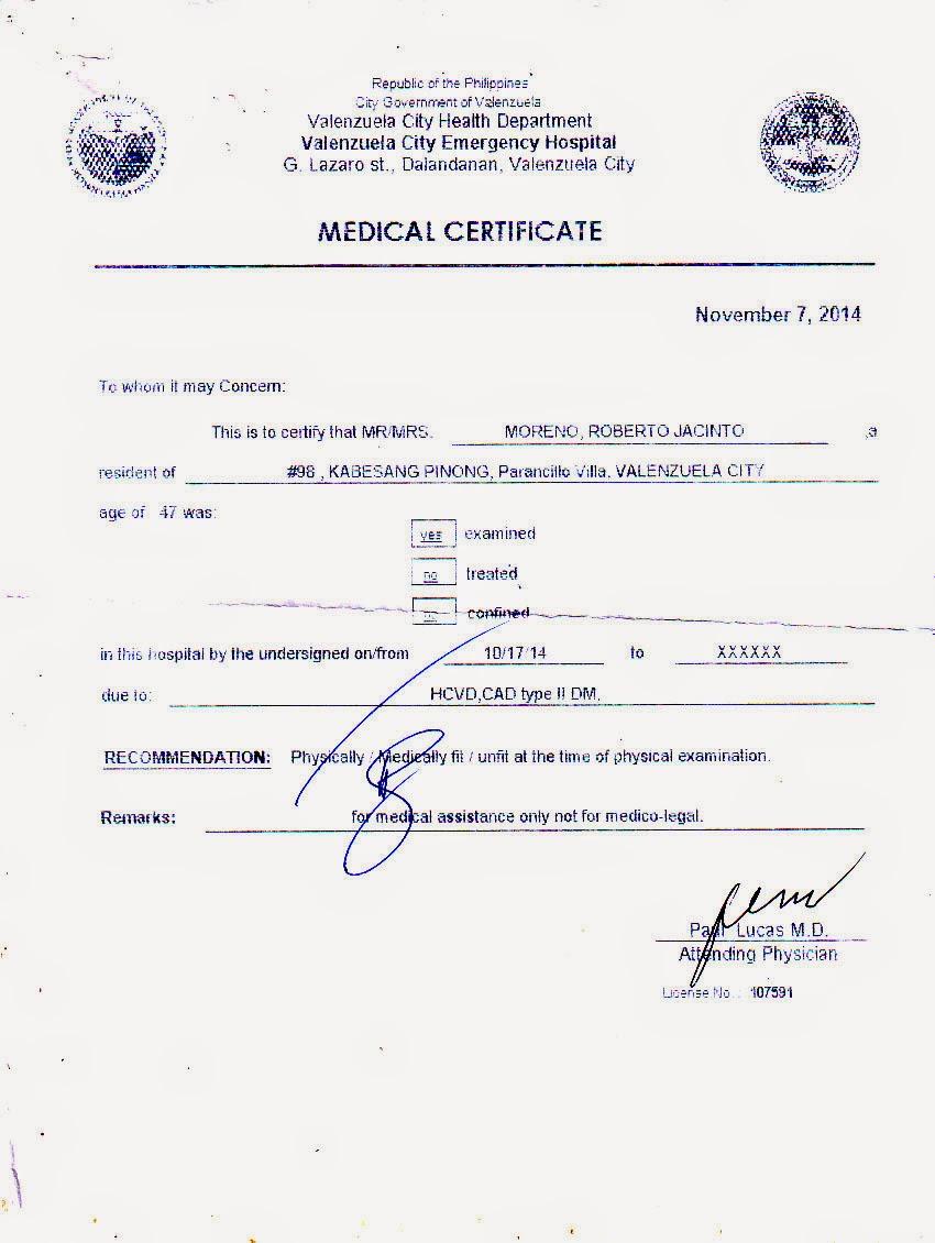 Medical City Medical Certificate Kubreforic