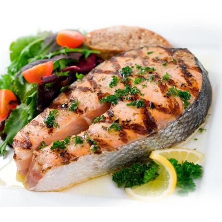 Стейк лосося на сковороде рецепт с фото