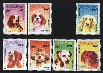 1990年ベトナム社会主義共和国 Epagneul コッカー・スパニエル サルーキ ブルドッグ プードル ダルメシアン ダックスフンドの切手
