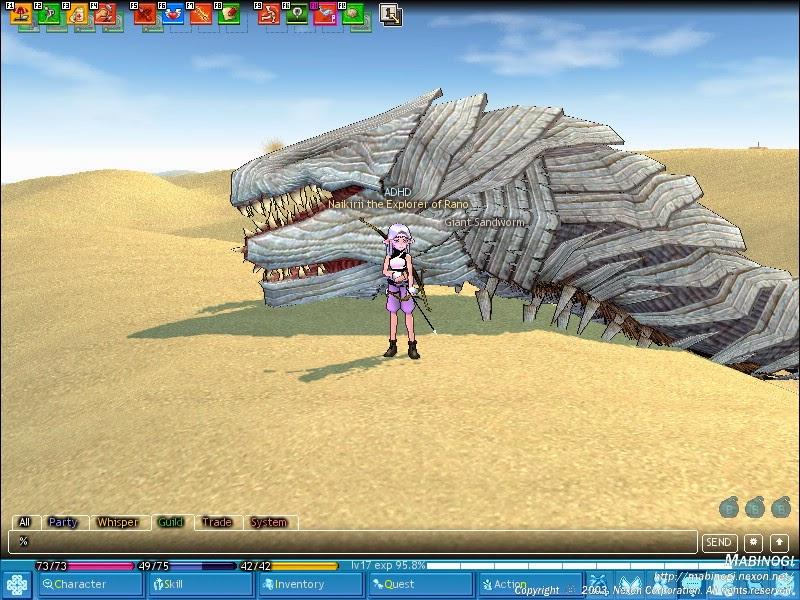 Mabinogi Giant Sandworm