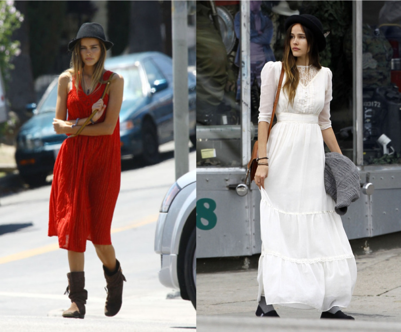 Street Style: Isabel Lucas   Bohemian Style