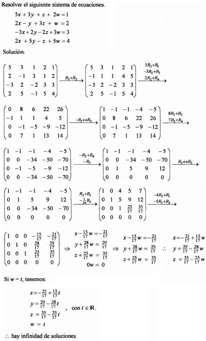 ecuaciones lineales con matrices: