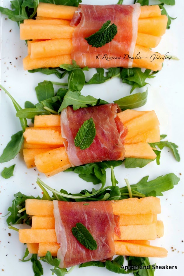 ... in Italy and Beyond: Prosciutto-Wrapped Melon Sticks With Rucola