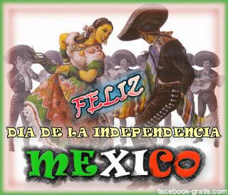 Tarjeta del día de la independencia de México
