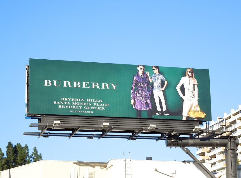 Romeo Beckham Burberry SS 2013 billboard