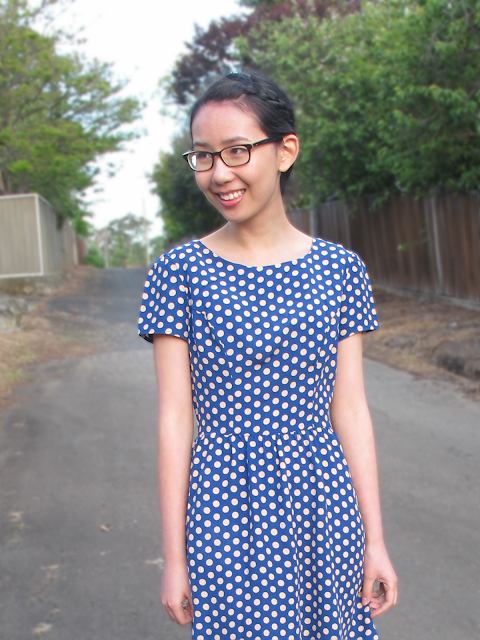 {Stay on Top} Blue polka dot dress from Topshop
