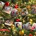 Montagem de fotos com moldura arvore de natal para 5 fotos