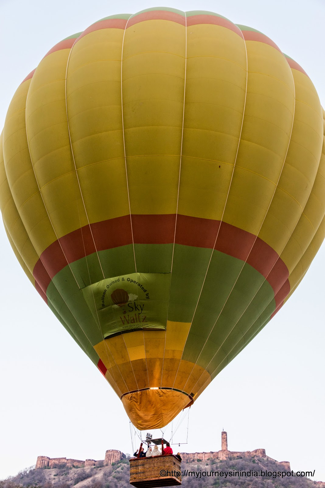 Hot Air Ballooning at Jaipur, Rajasthan India, Near Amer Fort