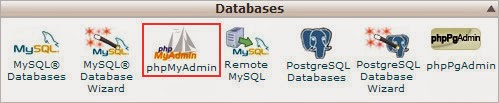 The Application 'phpMyAdmin' on the Home of cPanel