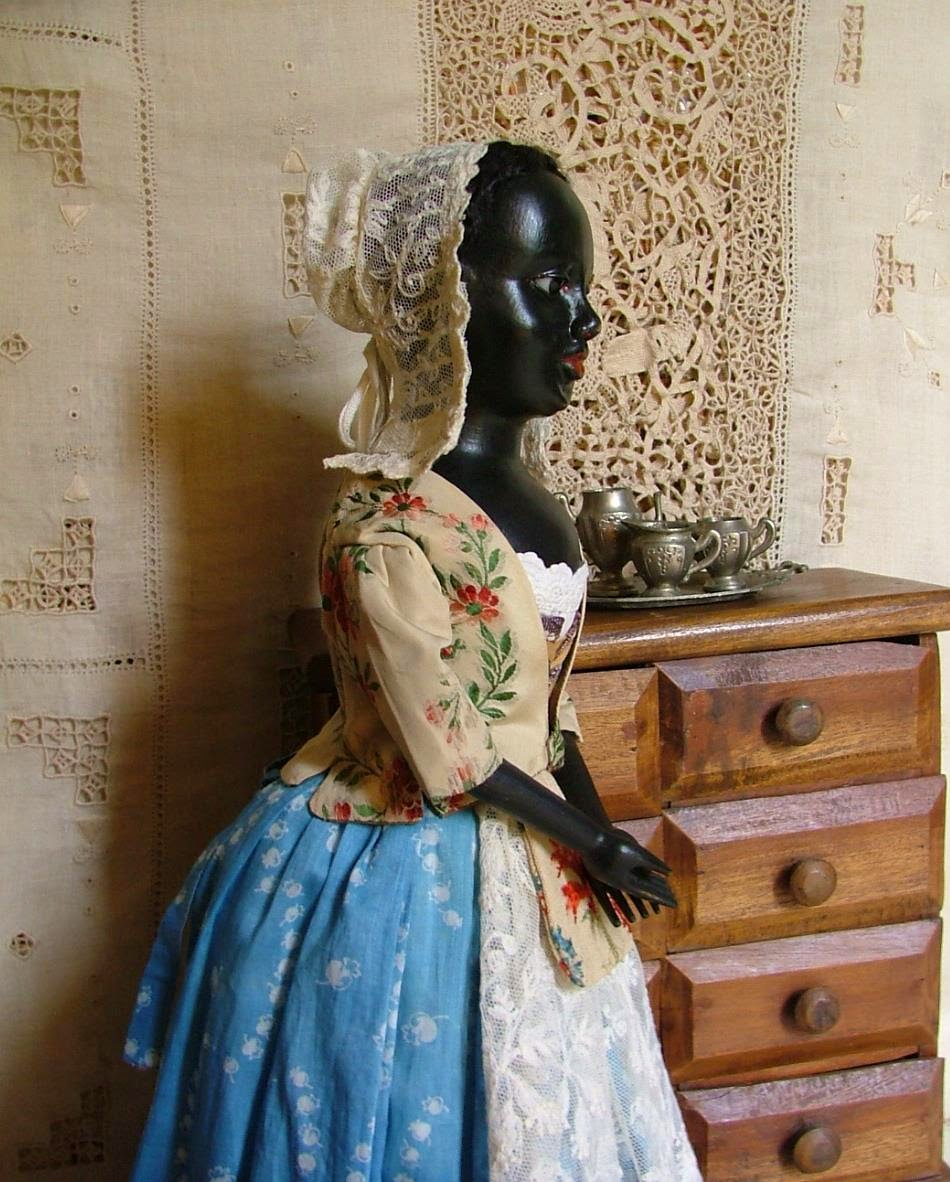 "Griselda, 16"" Wooden Queen Anne Doll"