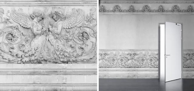 Young & Battaglia stone angels wallpaper