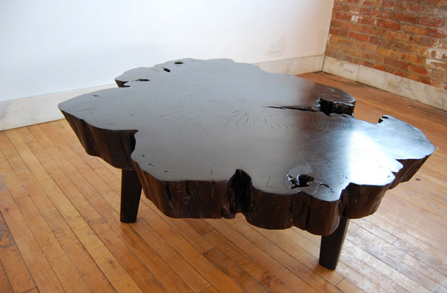 hvh interiors: Wooden Slab Coffee Tables
