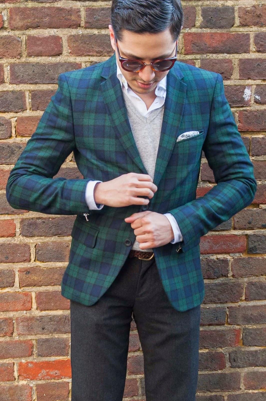 Sisley Blazer, Herringbone Sydney Shirt, Benetton Sweater, Gagliardi Pocket Square, Uniqlo Pants, Herring Shoes