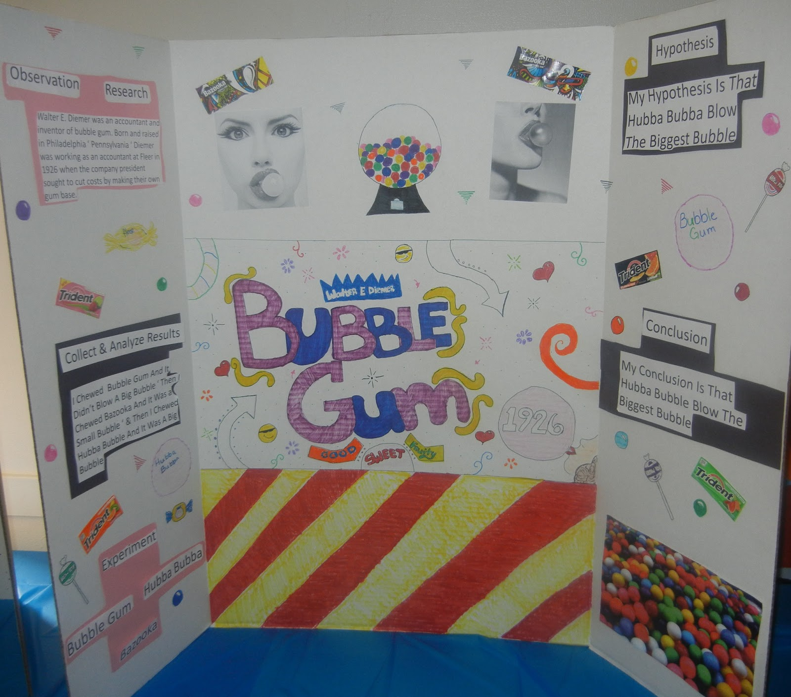 bubble gum science project School science fairs can be horribly dull, with the same experiments appearing before the judges year after year when you've seen one clay volcano belching red goo, you've seen them all.