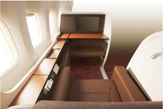 The new JAL Suite comes with a 23 inches personal TV