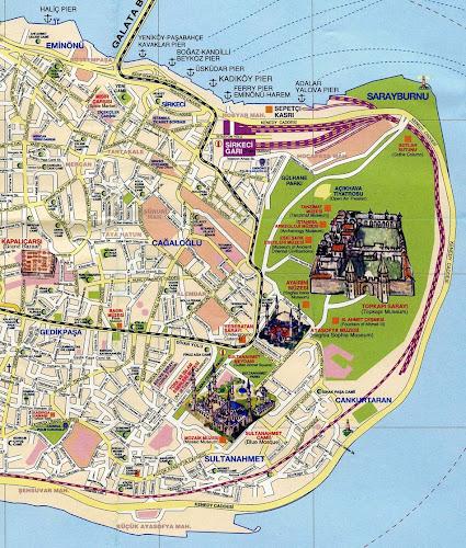 Mapa turístico Istambul
