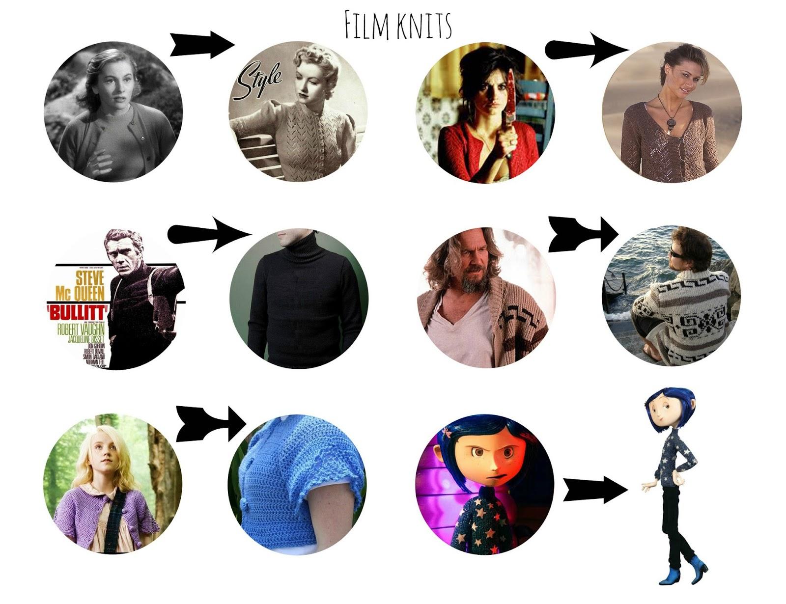 Armiarma: 6 patrones de jerseys de película/ 6 film knits patterns