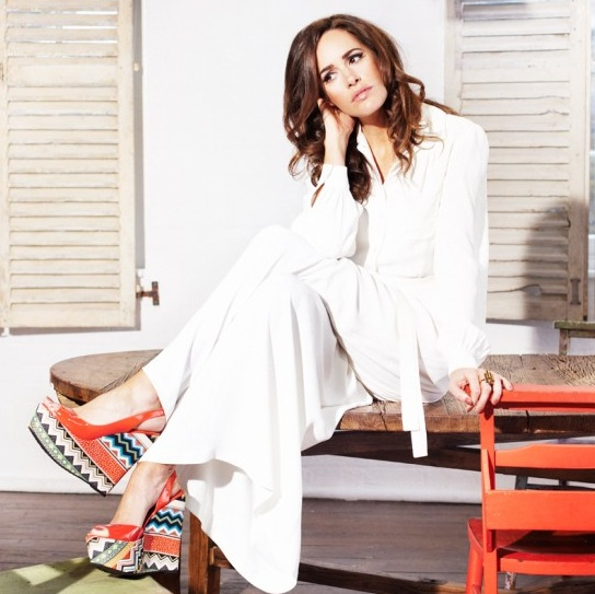 Louise Roe in Cabo red Tribal Aztec wedges for Stylist Pick - iloveankara.blogspot.com