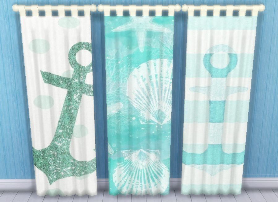 Beach Theme Shower Curtains Lowe's Curtains and Valances