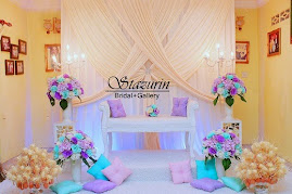 Pelamin Rumah Bertandang Warna Pastel Purple+Tiffany Konsep Tirai
