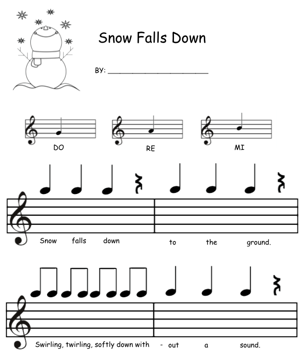 http://www.teacherspayteachers.com/Product/Snow-Falls-Down-Mi-Re-Do-Composition-1120790