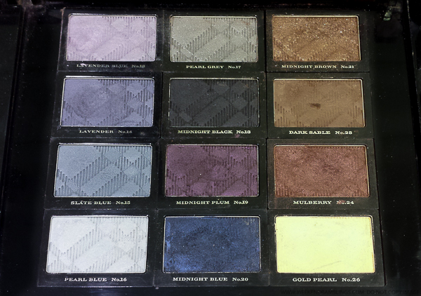 Burberry Eyeshadow Swatches