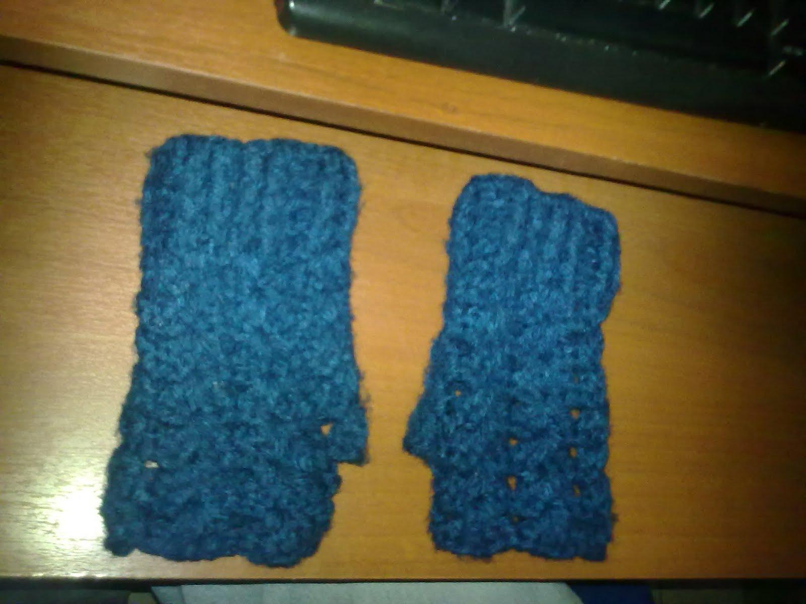 natyliz\'crochet: Guantes sin dedos