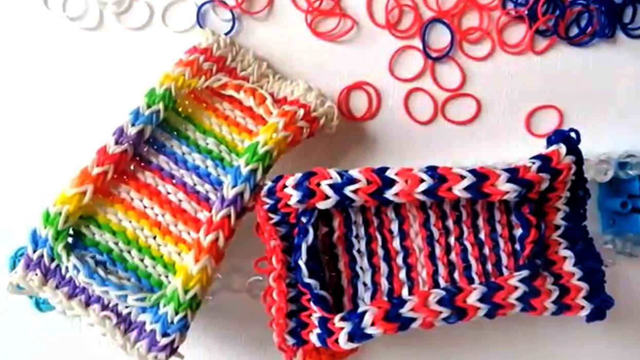 Плетение из резинок чехол для с рогаткой
