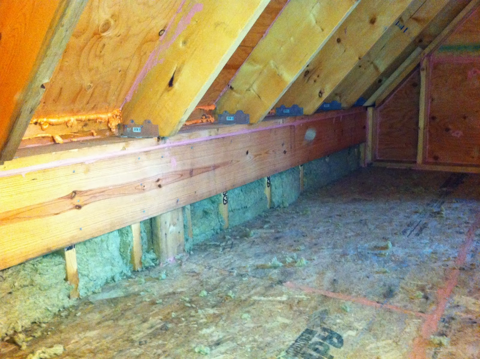 Green in greenville insulation in kneewalls for Mineral wool wall insulation