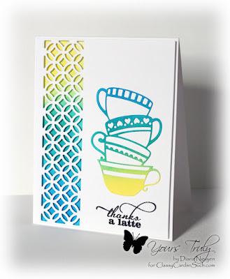 Diana Nguyen, teacup stack, Impression Obsession, Poppystamps, Verve