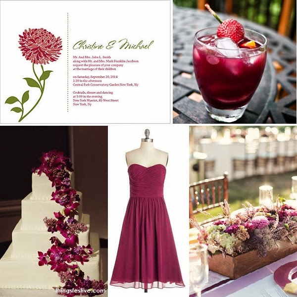 pantone sangria garden wedding inspiration things festive weddings events. Black Bedroom Furniture Sets. Home Design Ideas