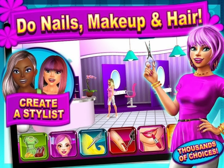 Sunnyville Salon Game - Play Free Hair, Nails & Make Up Games App iTunes App By Sunstorm Interactive - FreeApps.ws