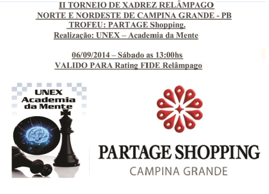CAMPINA GRANDE - II TORNEIO NORTE-NORDESTE DE XADREZ RELÂMPAGO