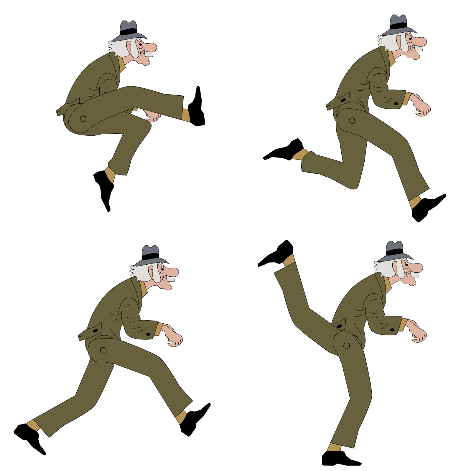 Silly walks clock