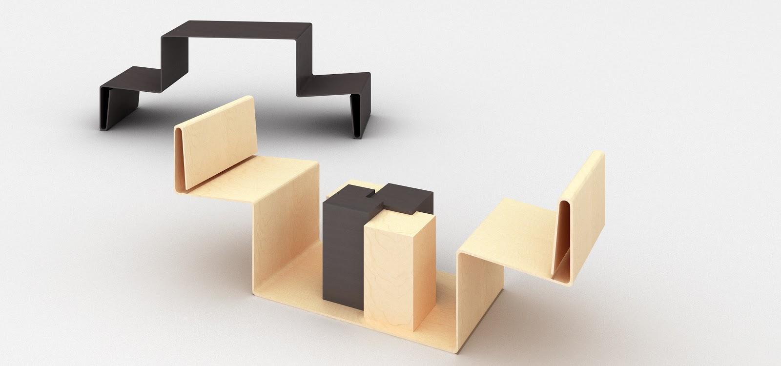 Manuel cuesta dise ador de interiores proyecto para for Silla que se convierte en mesa