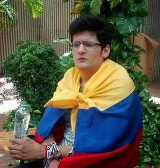 CARLOS BOLIVAR UFPS EN HUELGA DE HAMBRE